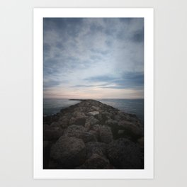 The Jetty at Sunset - Vertical Art Print