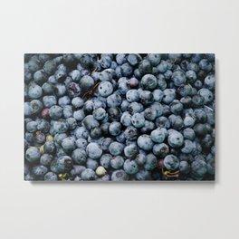 BLUEBERRIES - BUNCH - FRUIT - PHOTOGRAPHY Metal Print