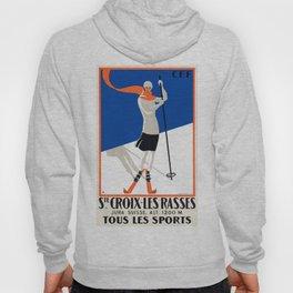 1922 Sainte-Croix Switzerland Ski Travel Poster Hoody