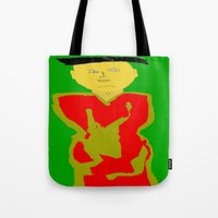 asia Tote Bags featuring Asia by Happy Fish Gallery