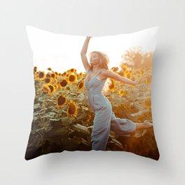 flower photography by Blake Cheek Throw Pillow