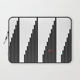 STRIPED SYMPHONY - Black and White #minimal #art #design #kirovair #buyart #decor #home Laptop Sleeve