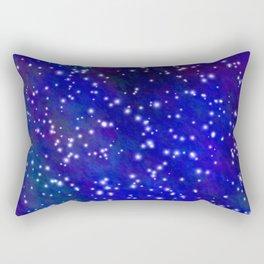Stars in the Navy Blue Sky Rectangular Pillow