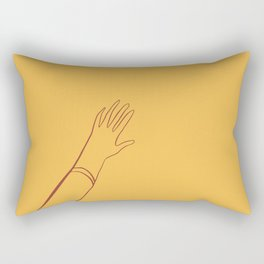 Yellow Hand Rectangular Pillow