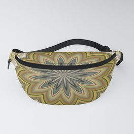 Abstract Green Mandala Fanny Pack