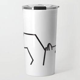 Minimalist Squirrel Travel Mug