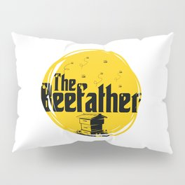 The Beefather - Bee Honey Beekeeper Honeycombs Pillow Sham