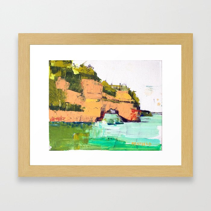 Pictured Rocks National Lakeshore Framed Art Print