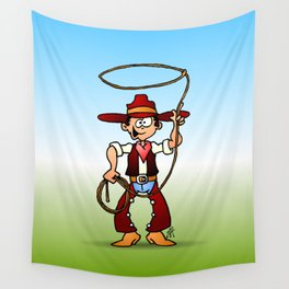 Cowboy with a lasso Wall Tapestry