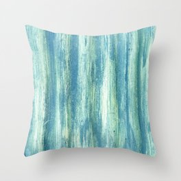 Turquoise vintage abstract metal pattern Throw Pillow