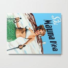Ski Mauna Kea Metal Print