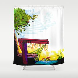 Gypsy River Architectural Illustration 89 Shower Curtain