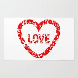 Love Stamp Rug