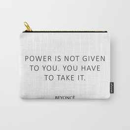 Queen Bey Quote - Power Carry-All Pouch