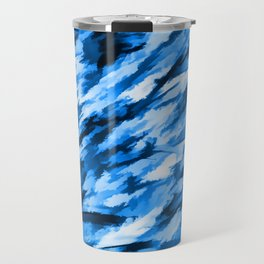 Blue Designer Camo Travel Mug