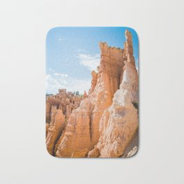 The Fortress | Nature Landscape Photography of Orange Canyon Rock Formations in Bryce Utah Bath Mat