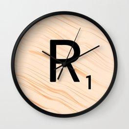 Scrabble Letter R - Large Scrabble Tiles Wall Clock