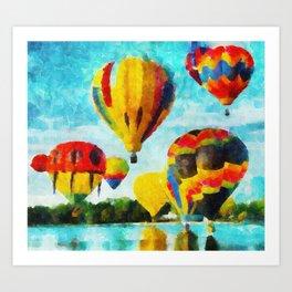 Cores Flutuantes Art Print