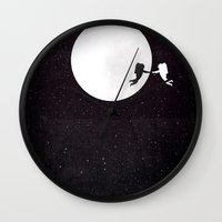 movie poster Wall Clocks featuring Moon alternative movie poster by LionDsgn