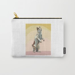 Cat bobtail. Stylized and colorful painting of cat. Carry-All Pouch