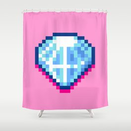 Pixel Diamond Shower Curtain