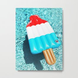 popsicle float all up in our pool Metal Print