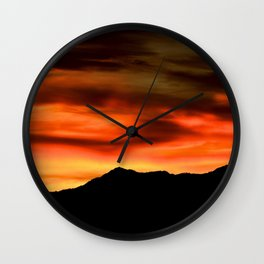 SW Orange Mountain Sunrise - II Wall Clock