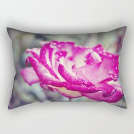 Magenta Rose Rectangular Pillow