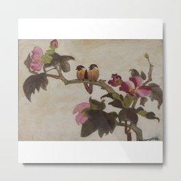 Love Birds - in Oil Metal Print
