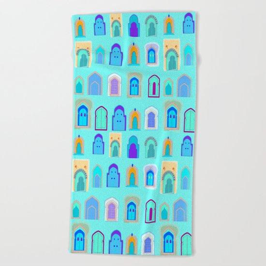 Moroccan Doors Beach Towel