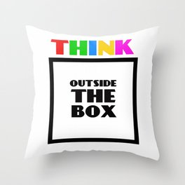 Think Outside The Box 3 Throw Pillow