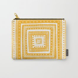 bright orange patterned square Carry-All Pouch