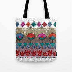 the rhyme of repetitive elements - fire, water, flower, air Tote Bag