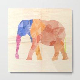Watercolor Elephant Metal Print