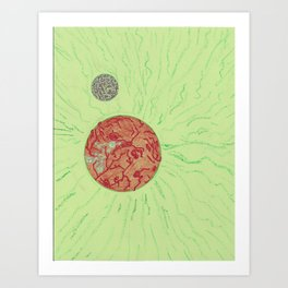SpaceSunGreen Art Print