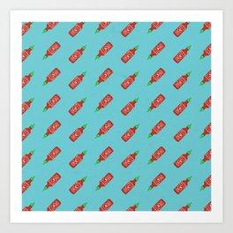 Sriracha Pattern Art Print