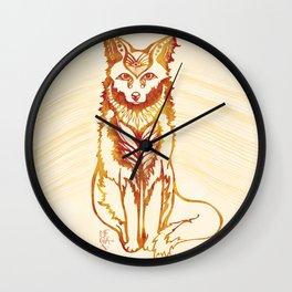 Ethereal Fox Wall Clock