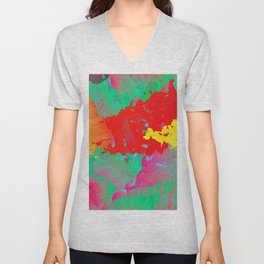 Abstract Paint Gradient Unisex V-Neck