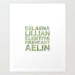 The many names of Aelin Galathynius Art Print