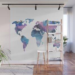 Galaxy World Map Wall Mural