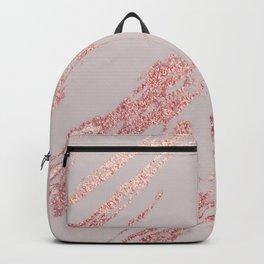 Porcelain grey rose gold Backpack
