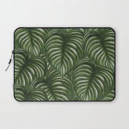 GREEN L E A V E S Laptop Sleeve