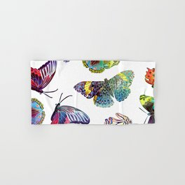 Butterfly Obsession in Blues Hand & Bath Towel