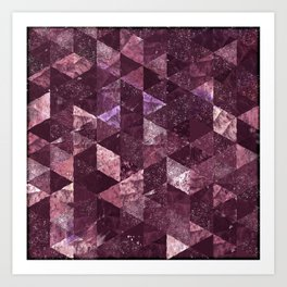 Abstract Geometric Background #24 Art Print