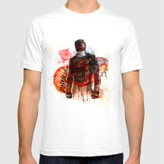 THE MAN WITHOUT FEAR White SMALL Mens Fitted Tee