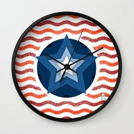 034 american flag interpretation Wall Clock