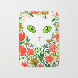 Cat Flor / Art Print / Jungle Cat Bath Mat