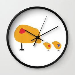Sunny Family Mom and Kids Wall Clock