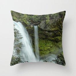 Sahalie Falls No. 4 Throw Pillow