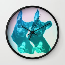 Ava dreams of pastel friends Wall Clock